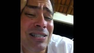 O bêbado cantando Raul....