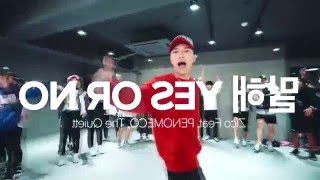 Junsun Yoo Choreography - Yes Or No (Zico) (cut&mirrored)