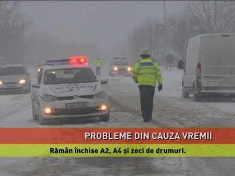 Probleme din cauza ninsorii