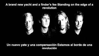 Nickelback - Edge Of a Revolution (LETRA EN ESPAÑOL E INGLES)