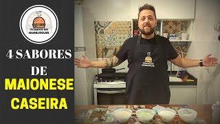 4 sabores de MAIONESE CASEIRA - Viciados em Hambúrguer