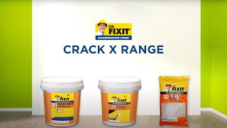 Dr. Fixit Crack- X range - Wall cracks - Application