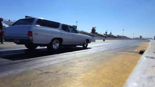 Kevin's Wagon of Doom on Hot Rod Drag Weekend 2016 Day 1 WHMP