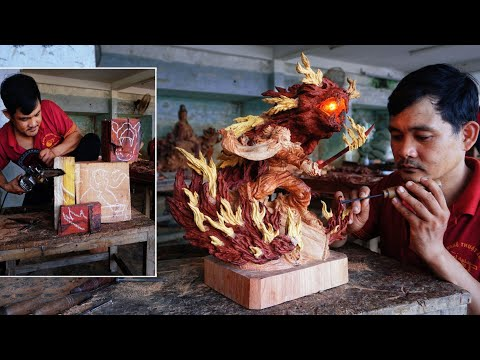 WTFF::: This Demon Slayer Rengoku Wood Carving Is Straight Fire