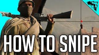"Battlefield 1 Sniper Tips - BF1 Gameplay Sniping Tips (Sniper Shield, ""Sweet Spot"", Leading Shots)"