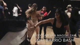 Nery Garcia & Maggie Zam Salsa dancing at Barrío Bash 2017