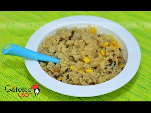 Quinoa cu Porumb si Fasole rosie - Reteta Bebelusi +1 An