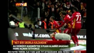 Ali Dürüst'ün Maç Sonu Açıklaması   Galatasaray - Gençlerbirliği   10 mart 2012