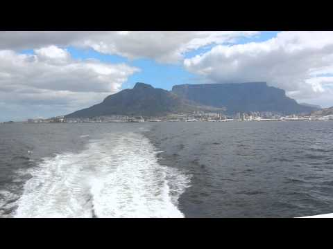Cape Town to Robben Island with view to the Table Mountain