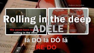 Rolling in the deep - Karaoke + notas para flauta - Educação Musical - Jose Galvao