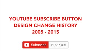 YouTube Subscribe Button Design Change History 2005 - 2015