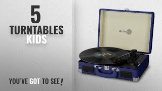 Top 5 Turntables Kids [2018]: Photive SoulTracks Portable 3-Speed Turntable with built in Speakers.