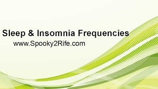 Sleep and Insomnia Frequencies