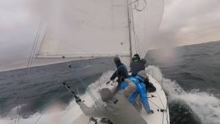 J80 CRASH GYBE AND BIG WAVES | Nivå Vinter Cup #3