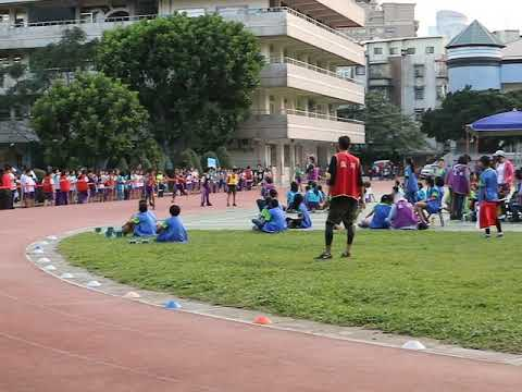 六年級男生400公尺接力賽 - YouTube