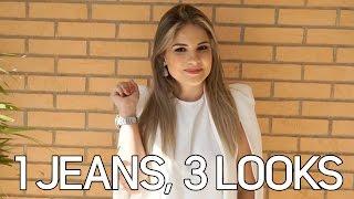 1 JEANS, 3 LOOKS - Moda na Passarela com: Laura B.