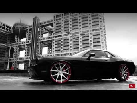 "Modified Dodge Challenger SRT8 on Custom 24"" LF Wheels"