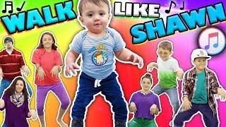 ♫ WALK LIKE SHAWN ♫ Music Video for Kids ♬ Dance Song