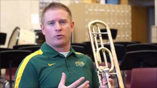 Trombone Making a Sound with Wind