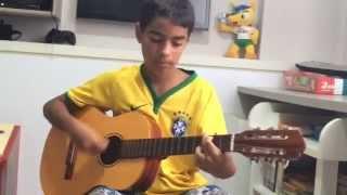 """João Gabriel tocando e cantando a música: """"O SOL""""  de J Quest - 9 ANOS"""