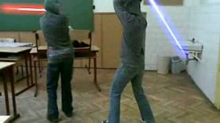 Párbaj Lézer Kardal (Fight with lightsaber)