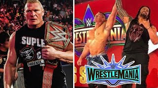 John Cena Match Confirm at Wrestlemania 35 & Brock Lesnar Coming to this Raw | WWE News 2019