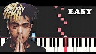 XXXTentacion - Moonlight (EASY Piano Tutorial)