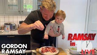 Gordon Ramsay Shows How To Make A Lamb Chop Dish At Home   Ramsay in 10