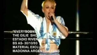 MADONNA EVERYBODY GIRLIE SHOW TOUR ARGENTINA 1993 HQ