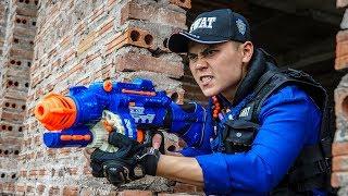 LTT Game Nerf War : Winter Warriors SEAL X Nerf Guns Fight Criminal Group Rocket Intruder Clever