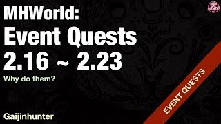 Monster Hunter World: Event Quests [2/16 - 2/23]