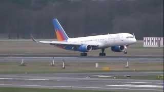 RAK Airways / B757-23N(W) [G-LSAK] landing at Berlin-Tegel 05.04.12