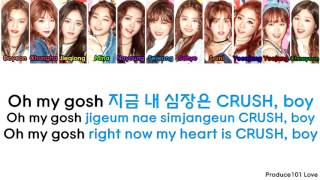 IOI ~ Crush Color Coded Lyrics (Han/Rom/Eng)