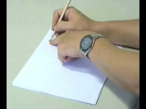 握筆姿勢手腕教學 - YouTube