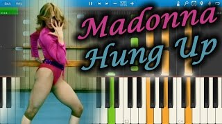 Madonna - Hung Up [Piano Tutorial] Synthesia