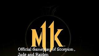 Mortal Kombat Mobile : Official Gameplay of Jade , Raiden and Scorpion