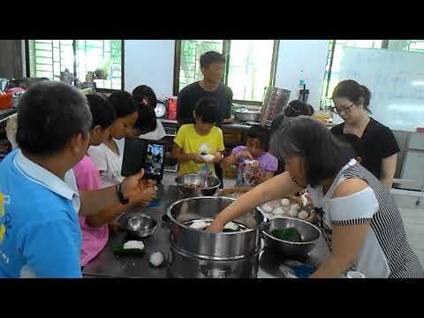 花蓮縣中正國小403班親會食農教育及米食製作搓湯圓和包菜包體驗 8 - YouTube