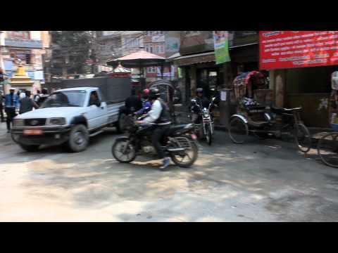 Traffic at Kathmandu Nepal
