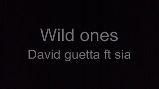 """Wild Ones (Feat. Sia)"" Lyric video recreation"