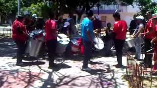 ensayo de samba show explocion juvenil junto a santa barbara