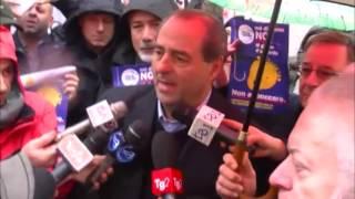 Antonio DI Pietro Firme contro il gioco d'azzardo 29-01-2014