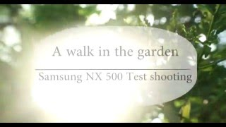 A walk in the garden - Samsung NX500 test footage