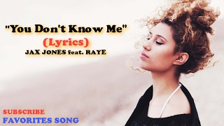 Jax Jones - You Don't Know Me Lyrics - ft Raye (Isabelle Stern Cover)