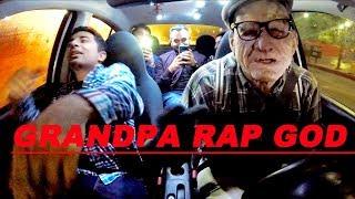 Grandpa Uber Driver KILLS Rap God at 120% Speed!!!