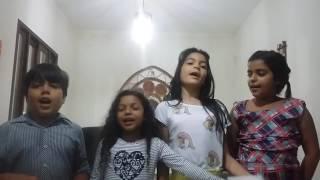 Crianças lindas cantando o Hino 442 Bênçãos bênçãos Deus derramará Hinario 5