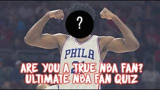 Guess These NBA Players | Ultimate NBA Fan Quiz