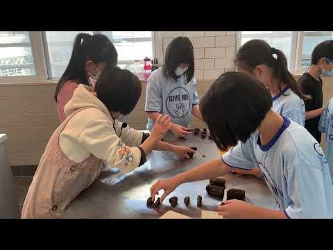 認真學習製作和果子(竹林中學千惠老師指導) - YouTube