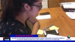 Una mujer Hondureña embarazada fue recluida en una cárcel de Platte y teme ser deportada.