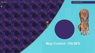 Paper.io 2 Map Control: 100.00% [Thanos Hand]