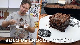 Bolo de Chocolate mais fácil do mundo - Cozinha Básica - OCSQN! #130